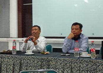 Sekretaris BPJPH Lutfi Hamid didampingi Kabag TU Kemenag DIY Wahib Jamil.