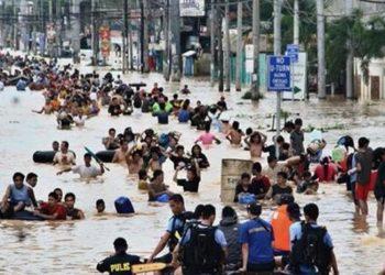 Banjir di Vietnam (Sumber Foto: Tigapilarnews.com)