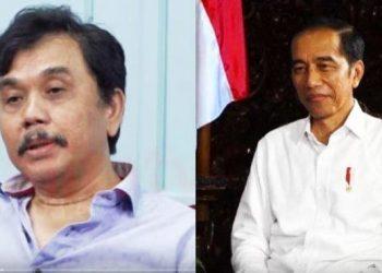 Syahganda Nainggolan, Pentolan KAMI (kiri) dan Presiden Jokowi (kanan)