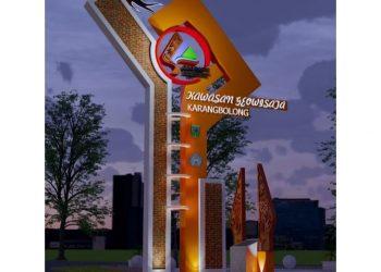 Tugu Prasasti Kawasana Geowisata Karangbolong yang di rencanakan pembangunanya (foto : Unindra)