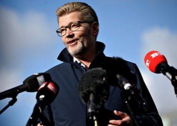 Wali Kota Copenhagen Frank Jensen berbicara dalam jumpa pers di Islands Brygge, Copenhagen, Denmark (18/10/2020). Sumber Foto: ANTARA/REUTERS/Ritzau Scanpix/Philip Davali/aa.