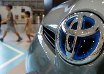 Logo Toyota. ANTARA/REUTERS/Yuya Shino/File Photo.